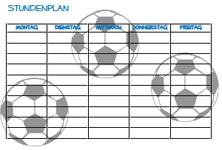 Fußball Stundenplan zum Ausdrucken   Druckvorlagen für
