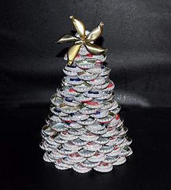 Tannenbaum Basteln Weihnachtsbaum Aus Kronkorken Basteln