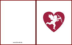 Grußkarte Zum Valentinstag Zum Ausdrucken