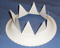 Hervorragend Krone aus einem Pappteller basteln GY28