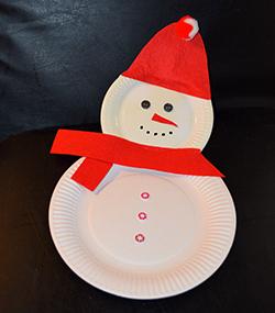 Einen Schneemann Aus Papptellern Basteln