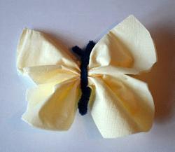 Schmetterling Aus Pfeifenputzern Und Servietten Basteln