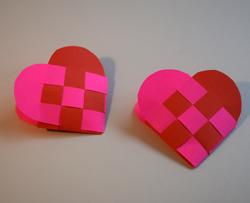 Herztüte Flechten Herz Aus Papier Basteln Papierweben