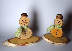 Einen Schneemann Aus Baumscheiben Basteln
