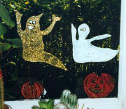 Fensterbilder basteln halloween - Halloween fensterbilder ...