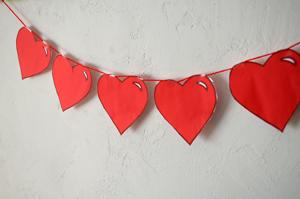 Girlande Aus Herzen Für Die Hochzeit Selber Machen