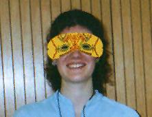 Die glättende Maske für die Person mit dem Ei